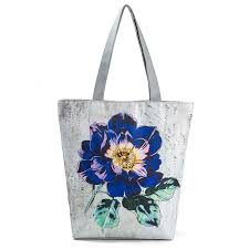 Hot Selling <b>Women Canvas</b> Beach Tote Bag Print Shoulder Handbags