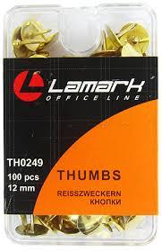 <b>Кнопки</b> золотистые <b>100шт 12мм Lamark</b> в пластиковой коробке ...