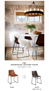 transitional dining chair sch: cb roadhouse leather chair for  vs target walker edison faux leather industrial chairs set