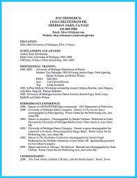 the best and impressive dance resume examples collections how to dance resume for college audition