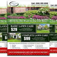 lawn care flyer design the lawn market lawn care flyer