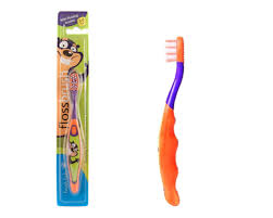 Купить <b>Brush</b>-<b>Baby</b> FlossBrush зубная щётка, 3-6 лет, оранжево ...