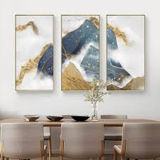 Buy <b>Blue</b> and <b>Yellow Abstract</b> Vertical Wall Art With Frame at 30 ...