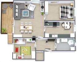 Two  quot   quot  Bedroom Apartment House Plans   Architecture  amp  Design  Simple Two Bedroom House Plan