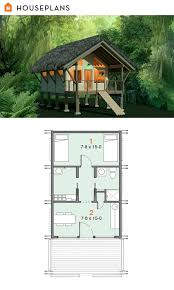 Off grid jungle shelter plan      sft   Tiny House Plans    Off grid jungle shelter plan      sft