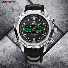 <b>WEIDE Men's</b> Sport <b>Casual</b> Model LCD Digital Quartz PU Strap ...