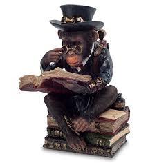 <b>Статуэтка</b> в стиле Стимпанк «<b>Обезьяна с</b> книгой» WS-194 ...