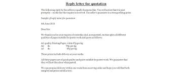 reply letter for quotation   business letter examplesreply letter for quotation