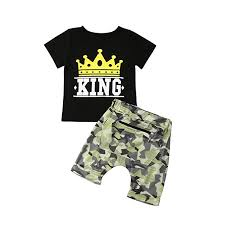 Toddler <b>Kids</b> Baby <b>Boy Camouflage</b> Clothes Outfit Short Sleeve <b>T</b> ...