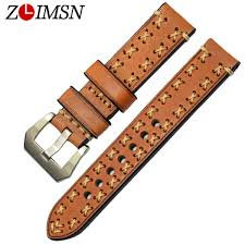 <b>ZLIMSN High Quality</b> Thick Genuine Leather Watchbands 20 22 24 ...