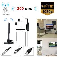 Opolski 200 Miles Range 4K <b>1080P HD Digital TV</b> Antenna Indoor ...