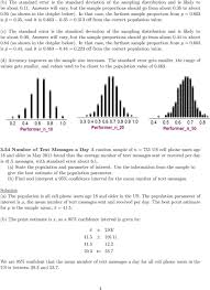 solutions to homework statistics professor larget pdf c the standard error is the standard deviation of the sampling distribution and is
