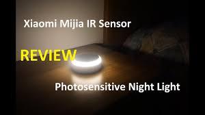 <b>Xiaomi Mijia IR</b> Sensor and Photosensitive Night Light - YouTube
