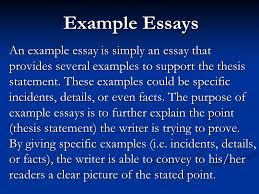 example essays an example essay is simply an essay that provides    example essays an example essay is simply an essay that provides several examples to support the
