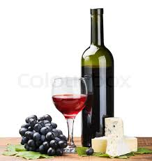 bottle glass of red wine and ripe grapes stock photo bottle red wine