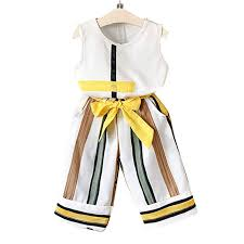 Aile Rabbit Girls <b>Applique Sleeveless</b> Top and Pant Set in Yellow ...