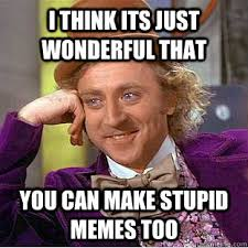 I think its just wonderful that you can make stupid memes too ... via Relatably.com