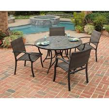 patio table and 6 chairs: slate and metal patio table with  chairs bryanston olxcoza