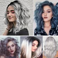 NEW 7 Color Gradient Large <b>Wave Curls</b> Afro <b>Fashion Women's</b> ...