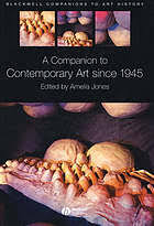 A <b>companion</b> to contemporary art since 1945 (Book, 2006 ...