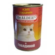 <b>Консервы Dr. Alder's Cat Garant</b> для взрослых кошек с говядина ...