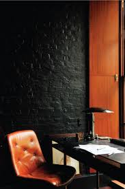 black painted brick office wall brick office furniture
