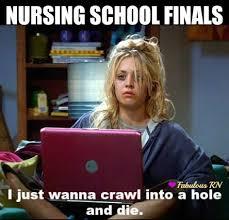 Nursing school finals. Nurse humor. Nurses funny. Nursing school ... via Relatably.com