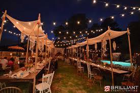 la jolla backyard wedding market lights vintage edison lights backyard wedding lighting