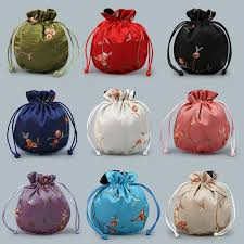 <b>Round</b> Fruit Lace Embroidery <b>Bag</b> Jewelry Scholar's Object Pocket ...