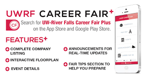 career fair app university of wisconsin river falls uwrf career fair plus app features