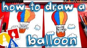How to Draw a <b>Hot Air</b> Balloon <b>Cute</b> & Easy - KidzTube
