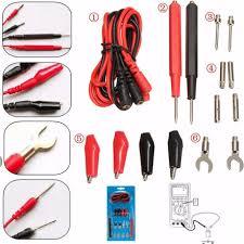16 Pcs <b>Universal Multimeter</b> Cable Digital Test Lead Utility Needle ...
