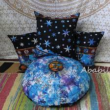 "<b>16X16</b> Pillow Covers <b>3Pcs</b> Set With 24"" Round Cushion Cover ..."