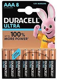 <b>Duracell Ultra AAA</b> Alkaline Batteries [Pack of 8], 1.5 V <b>LR03</b> MN2400