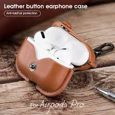 For Air pods Pro Airpods Pro <b>Luxury Leather Case</b> Earphone ...