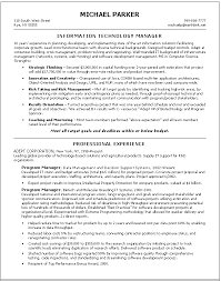 information technology manager resume — before  amp  after