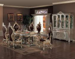 Solid Wood Dining Room Tables And Chairs Formal And Elegant Dining Room Sets Retro Dining Room Design With