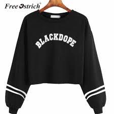 Свободный пуловер со страусиными <b>буквами</b>, <b>толстовка с</b> ...