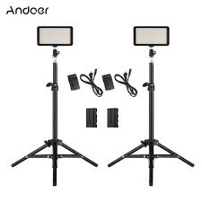 Andoer <b>LED Video Light</b> Kit include 2pcs <b>W228</b> 3200K/6000K - Prix ...