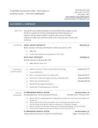 new grad rn resume nursing resume for new grad