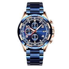 MINI FOCUS Men's Business Quartz Watches ... - Amazon.com