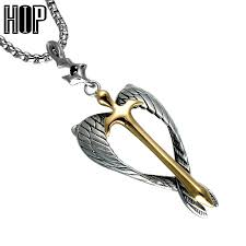 HIP <b>Punk</b> Titanium <b>Stainless Steel</b> Angle Charm Necklaces ...