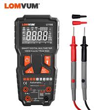 <b>LOMVUM</b> 9999 Counts Digital Multimeter Intelligent AC DC Voltage ...