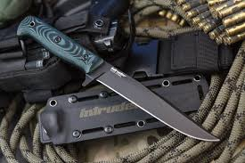 <b>Тактический нож Intruder</b> D2 Black Titanium, Kizlyar Supreme ...