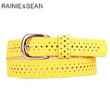 <b>RAINIE SEAN</b> Thin <b>Leather Women</b> Belt Pin Buckle Belt For Dresses ...