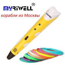 <b>Myriwell 1st</b> pen 3d model 1.75mm ABS Smart <b>3D Pen</b> Drawing Pen ...