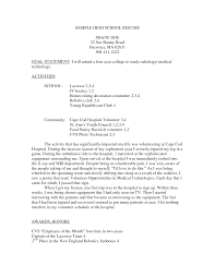 sample resume high school students  seangarrette cosample