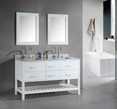 white double sink bathroom  inch transitional double sink bathroom vanity set white finish