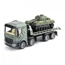 <b>Радиоуправляемый грузовик</b>-<b>трейлер</b> + танк <b>Zhoule Toys</b> ...