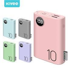 <b>KIVEE 10000mAh</b> PowerBank Macaron Dual USB Output Portable ...